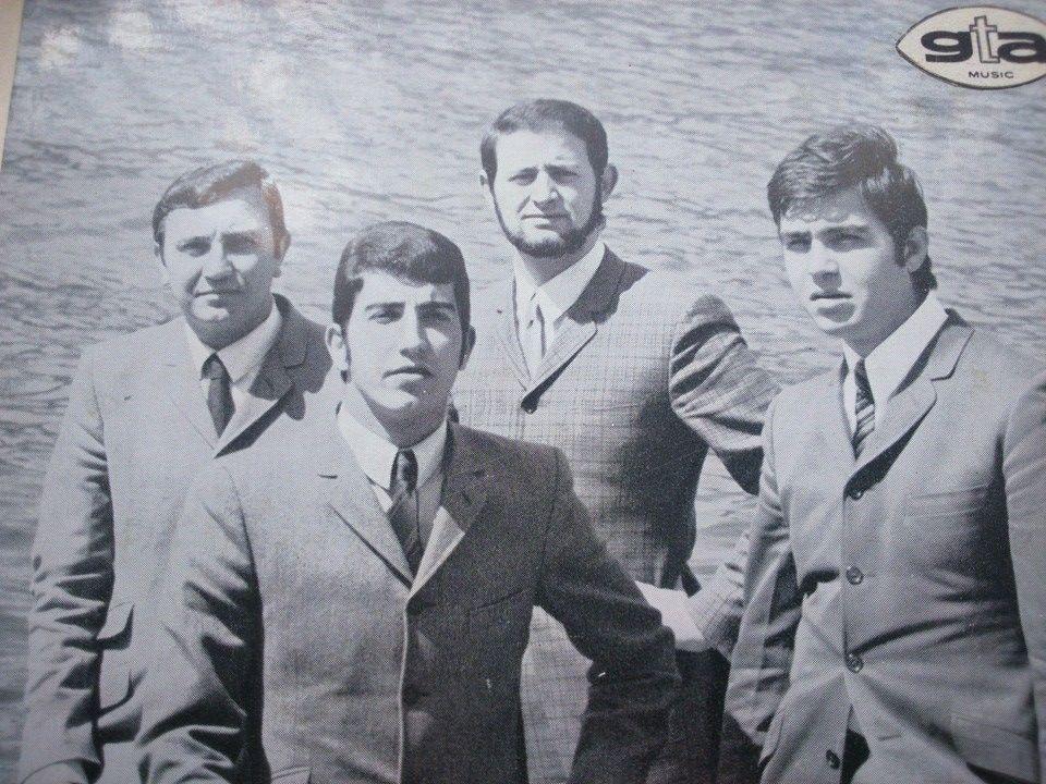 La formazione nel 1967: NUCCI GUERRA, CARLO CASTELLI, PINO SCARCIGLIA, MIMMO SPORTELLI